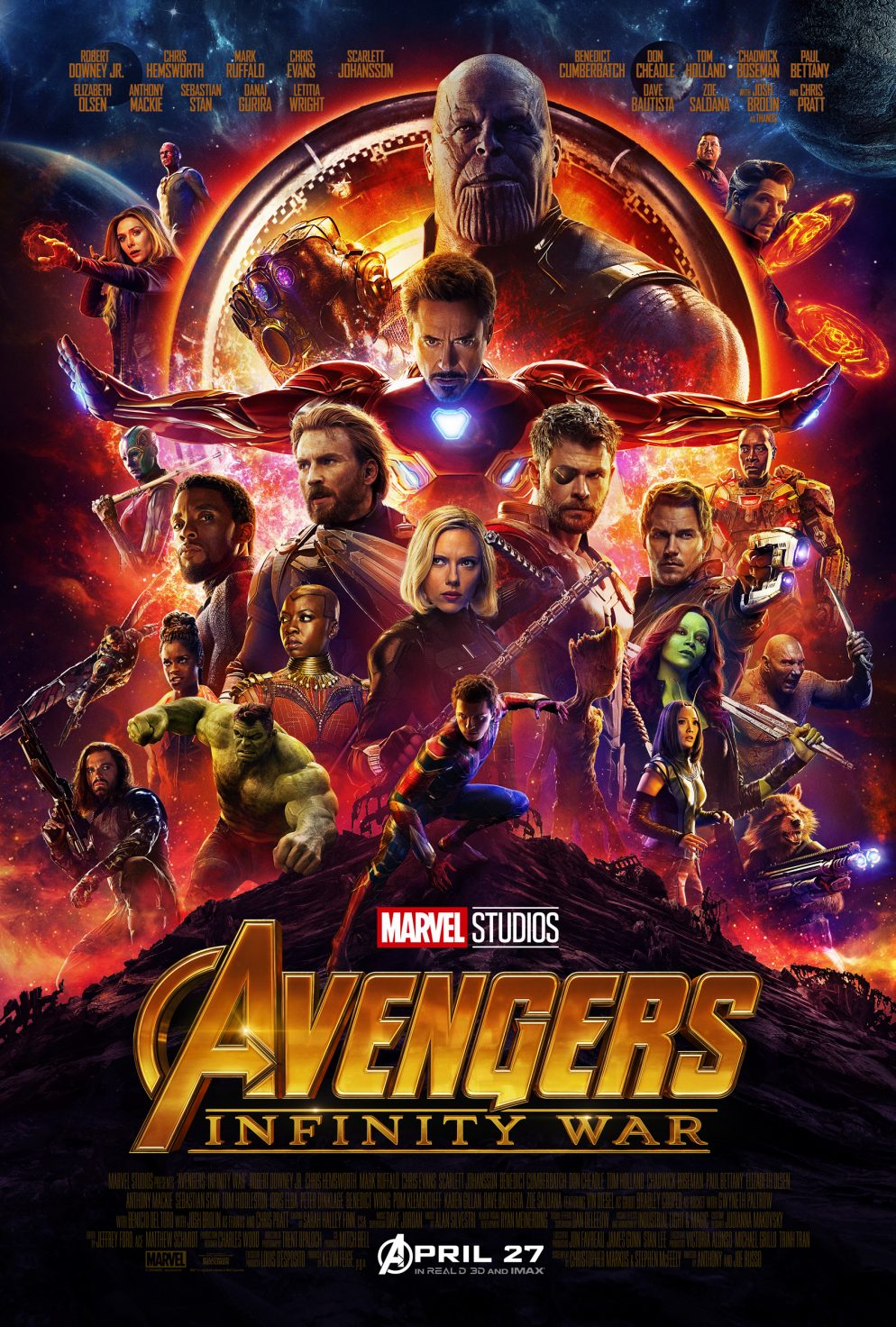 Poster Infinity war all