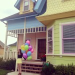 """Ellie"" with balloons out front"