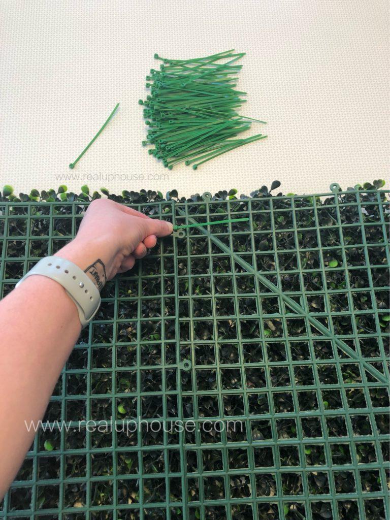 Securing zip ties