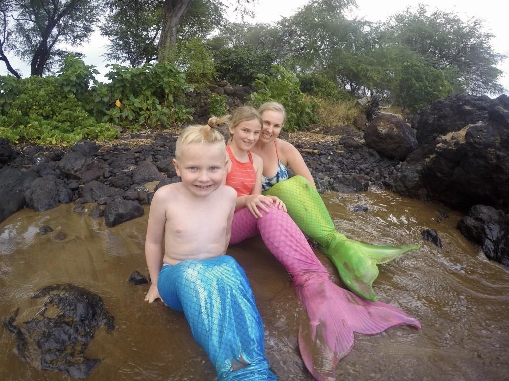 We had mermaid swim lessons in Maui!